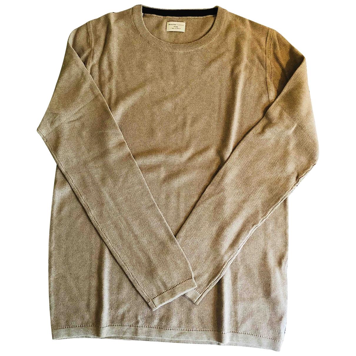 Selected - Pulls.Gilets.Sweats   pour homme en coton - camel