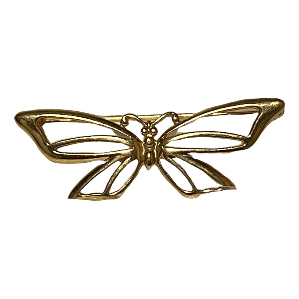 Trifari - Broche   pour femme en metal - dore