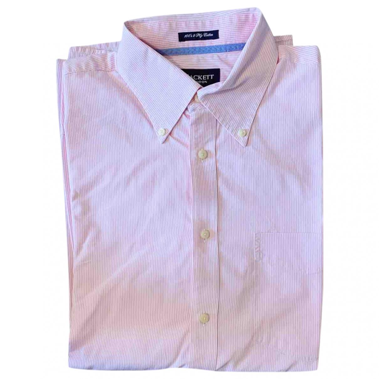 Hackett London \N Hemden in  Rosa Baumwolle