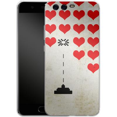 Huawei P10 Silikon Handyhuelle - Heart Attack von Claus-Peter Schops