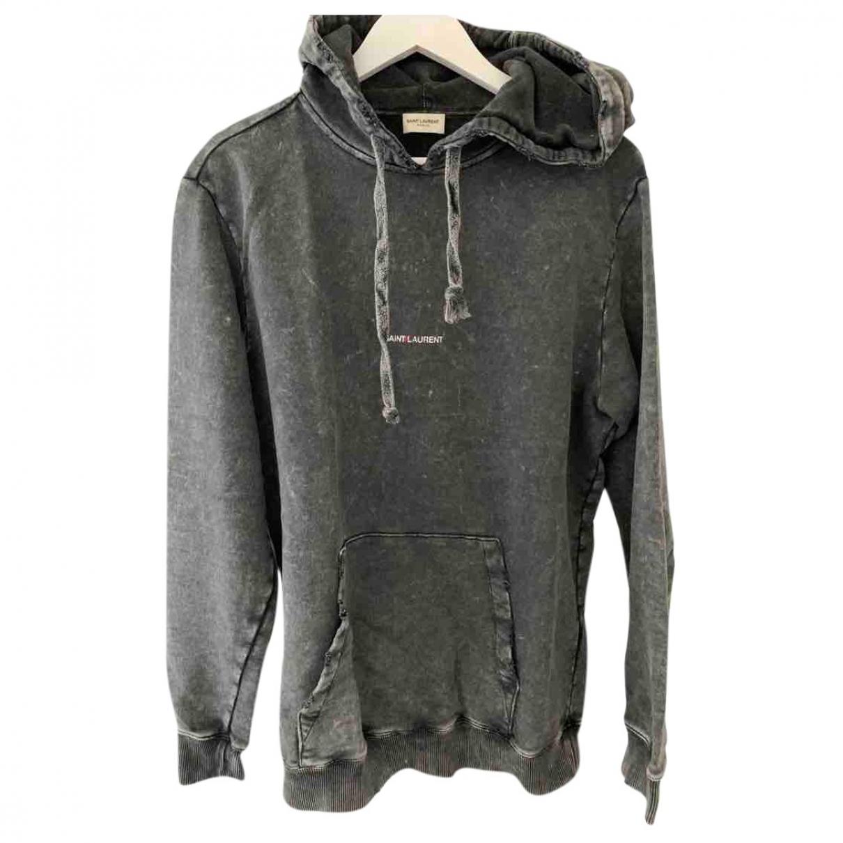 Saint Laurent \N Pullover.Westen.Sweatshirts  in  Grau Baumwolle