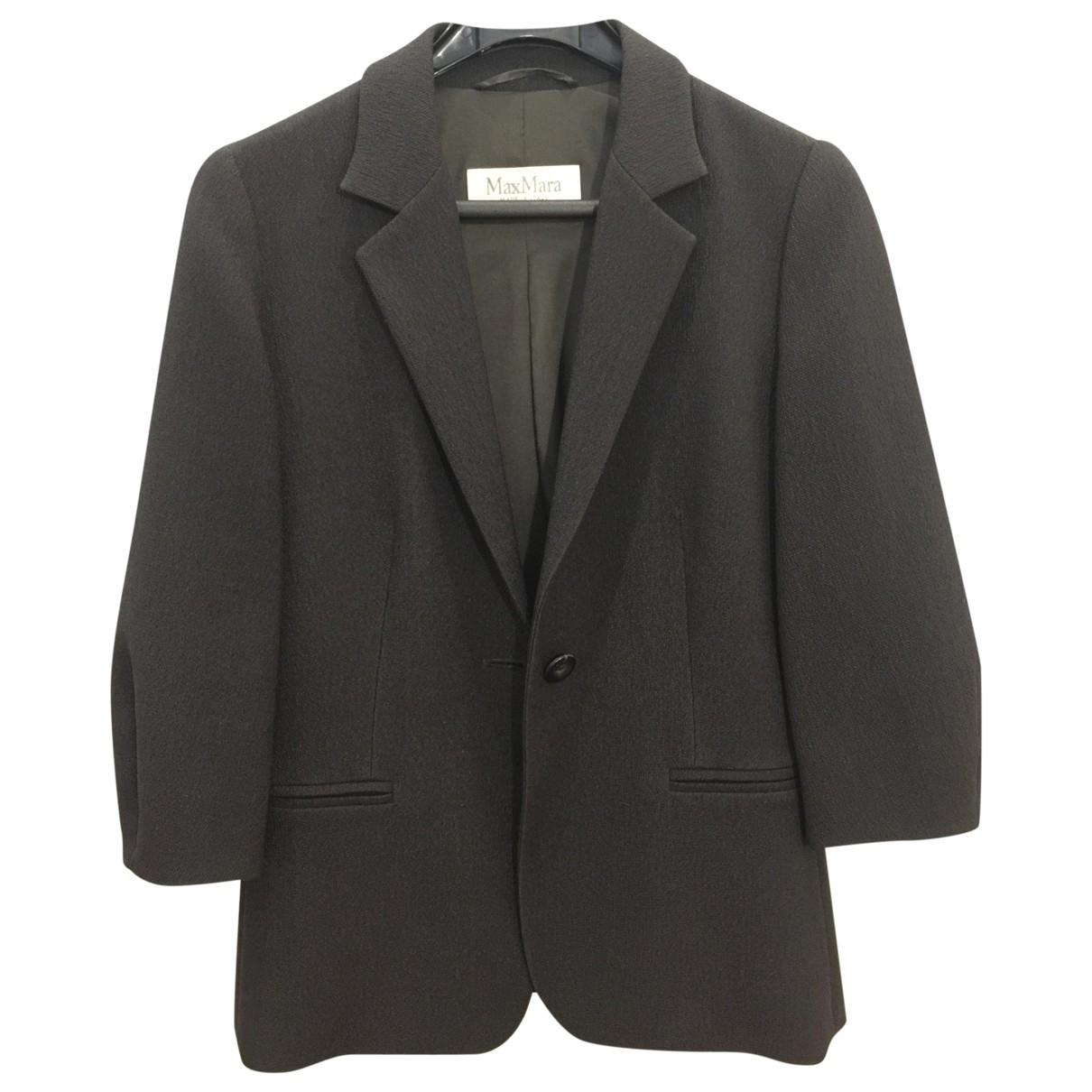 Max Mara \N Black Wool jacket for Women 38 FR