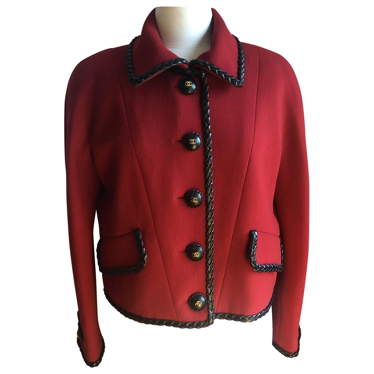 Chanel \N Red Wool jacket for Women 42 FR