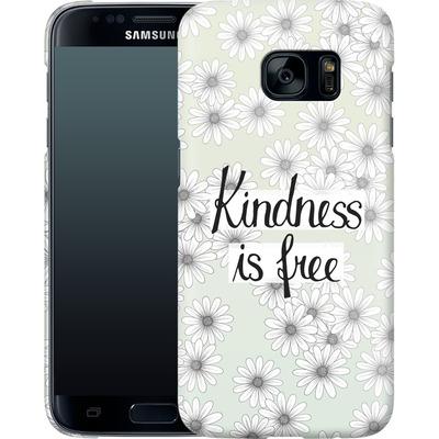 Samsung Galaxy S7 Smartphone Huelle - Kindness is Free von Barlena