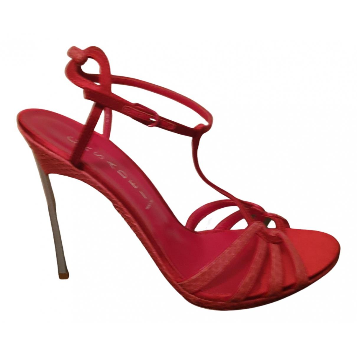 Casadei - Sandales   pour femme en cuir