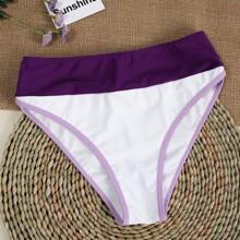 Bikini Hoschen mit Kontrast Bindung