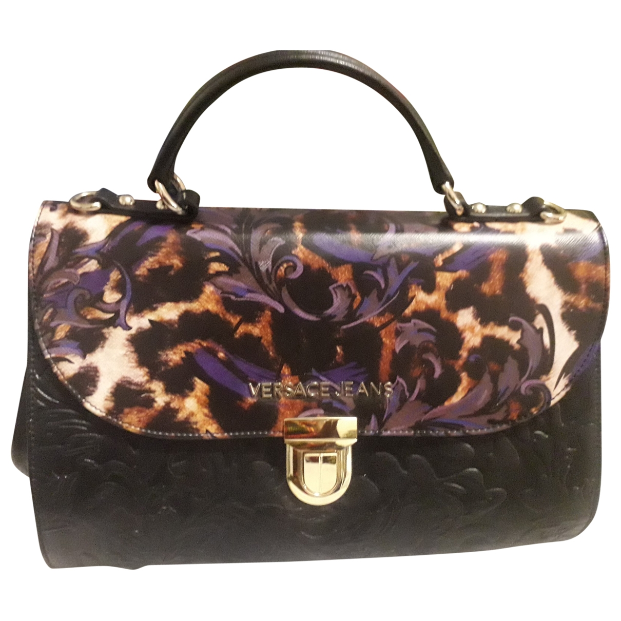 Versace Jeans \N Handtasche in  Schwarz Leder