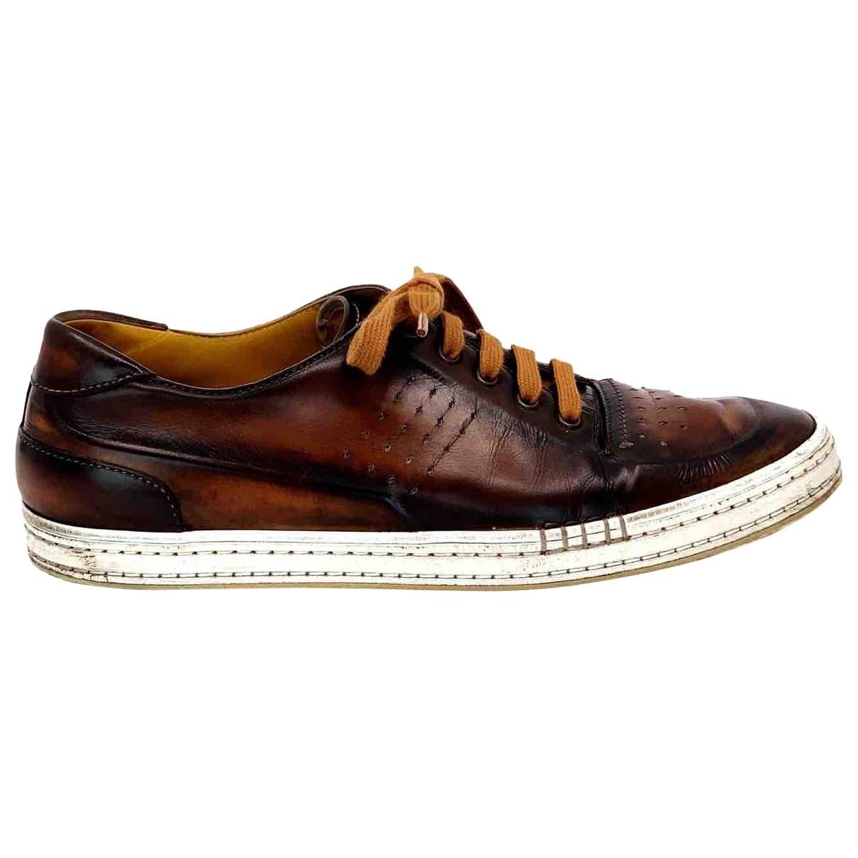 Berluti - Baskets   pour homme en cuir - marron