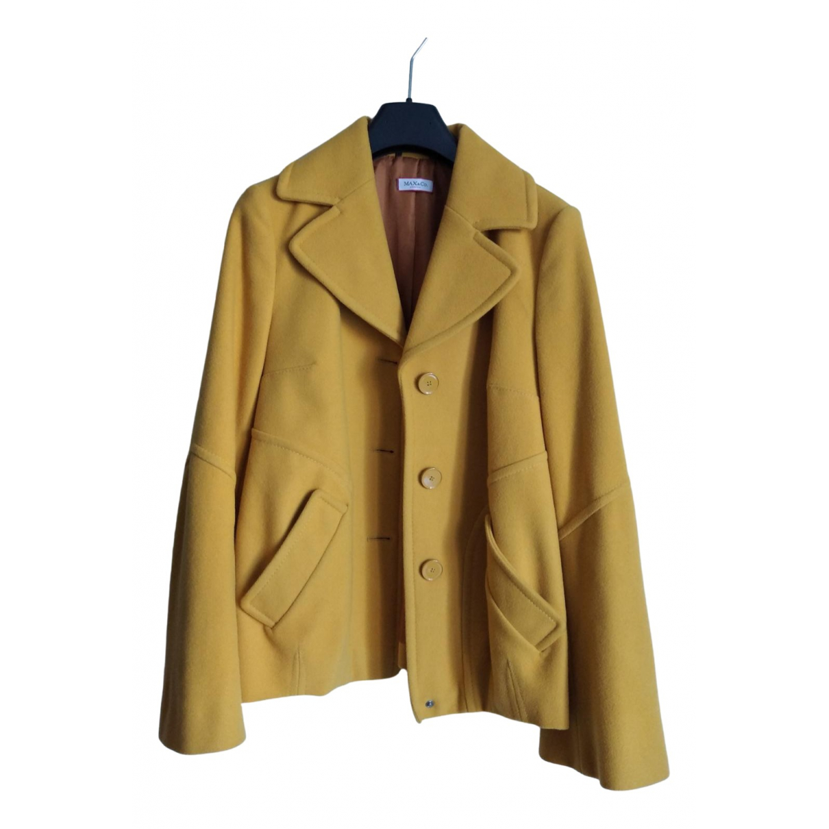 Max & Co \N Yellow Wool jacket for Women 40 IT