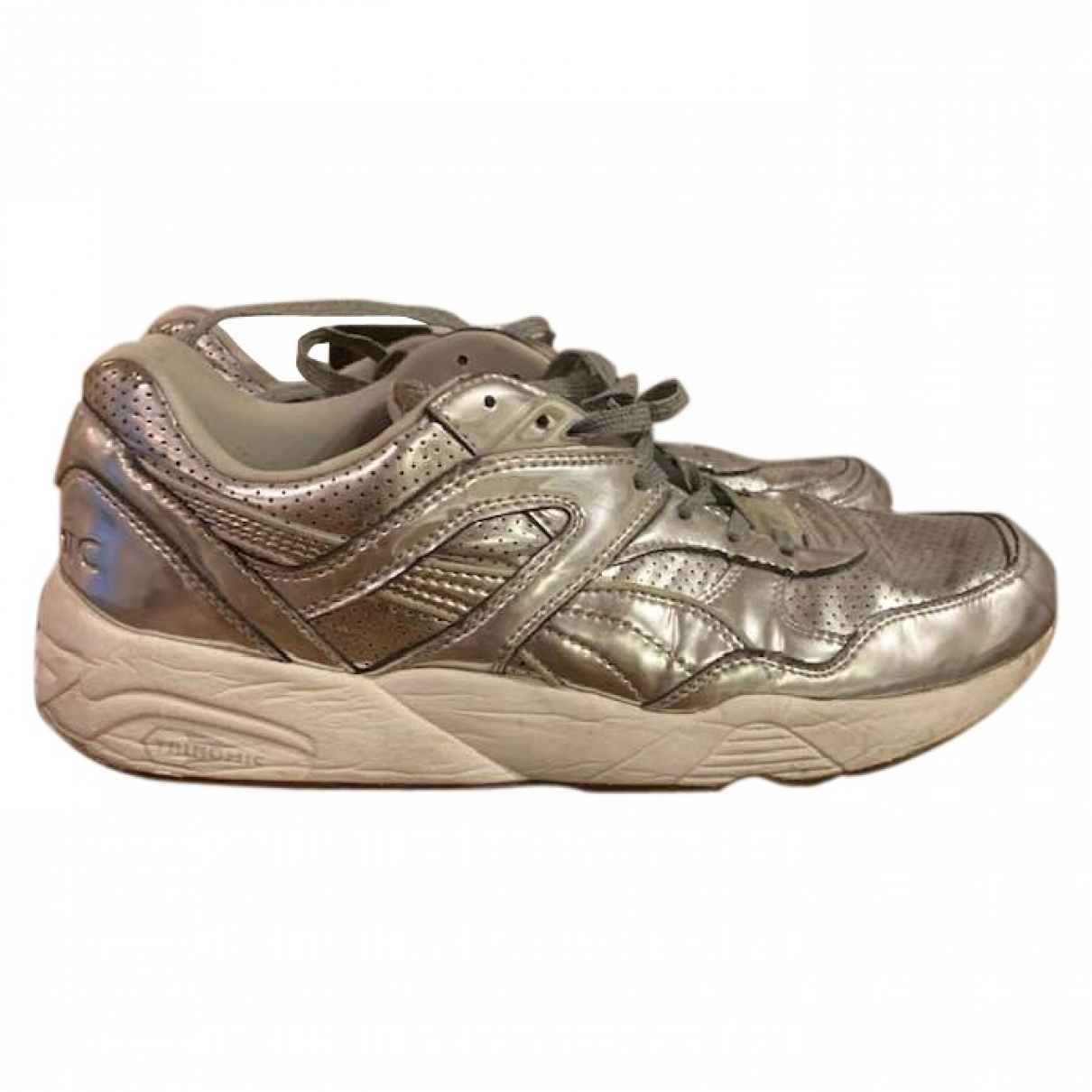 Puma \N Silver Leather Trainers for Men 44 EU