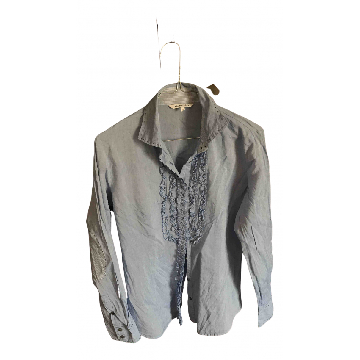 Marella - Top   pour femme en coton - bleu