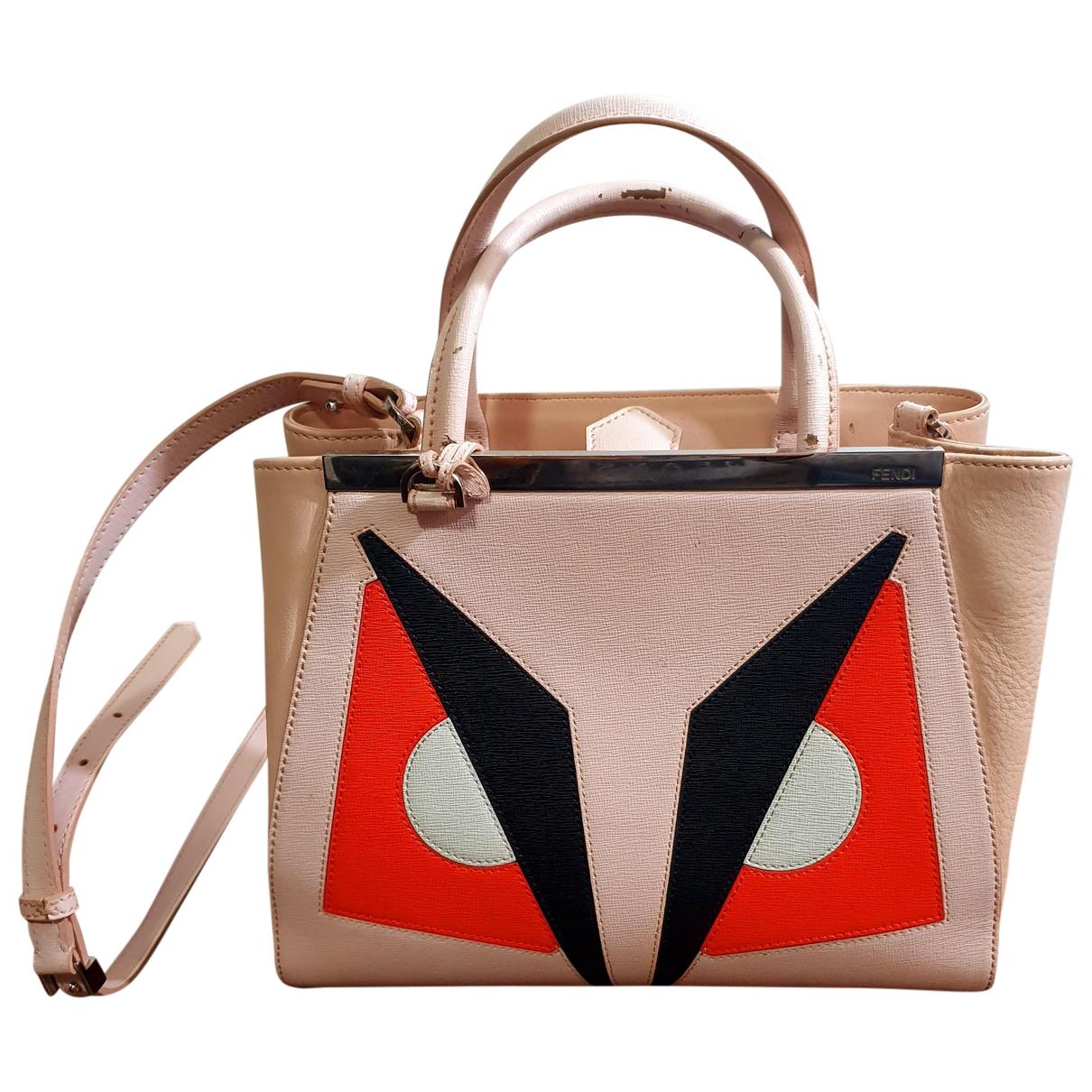 Fendi 2Jours Pink Leather handbag for Women \N