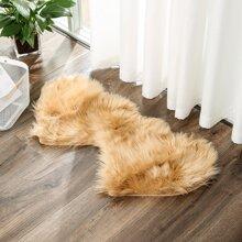 Double Heart Plush Carpet