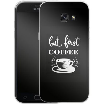 Samsung Galaxy A5 (2017) Silikon Handyhuelle - Coffee First von Mukta Lata Barua