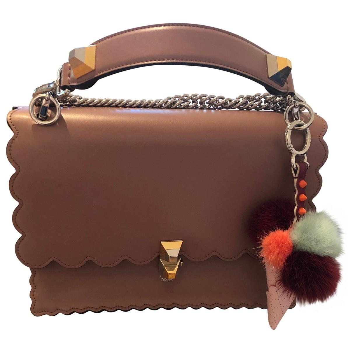 Fendi Kan I Pink Leather handbag for Women \N