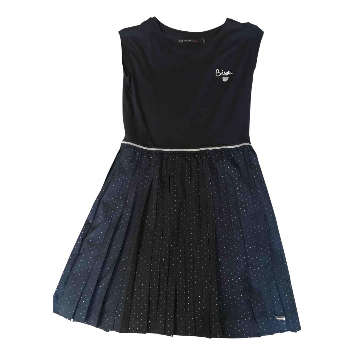Ikks N Navy Cotton - elasthane dress for Kids 12 years - XS FR
