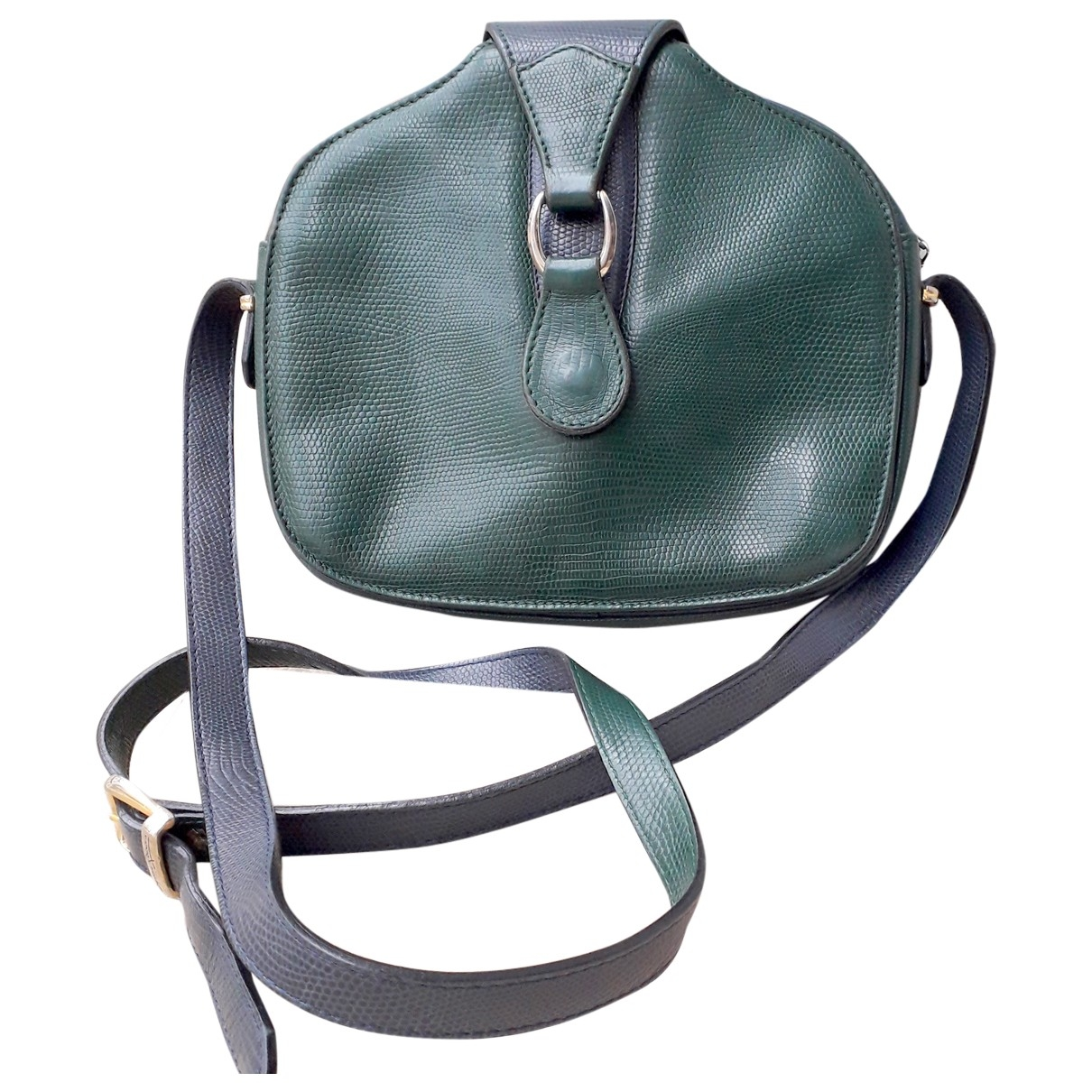 Non Signé / Unsigned \N Green Leather handbag for Women \N