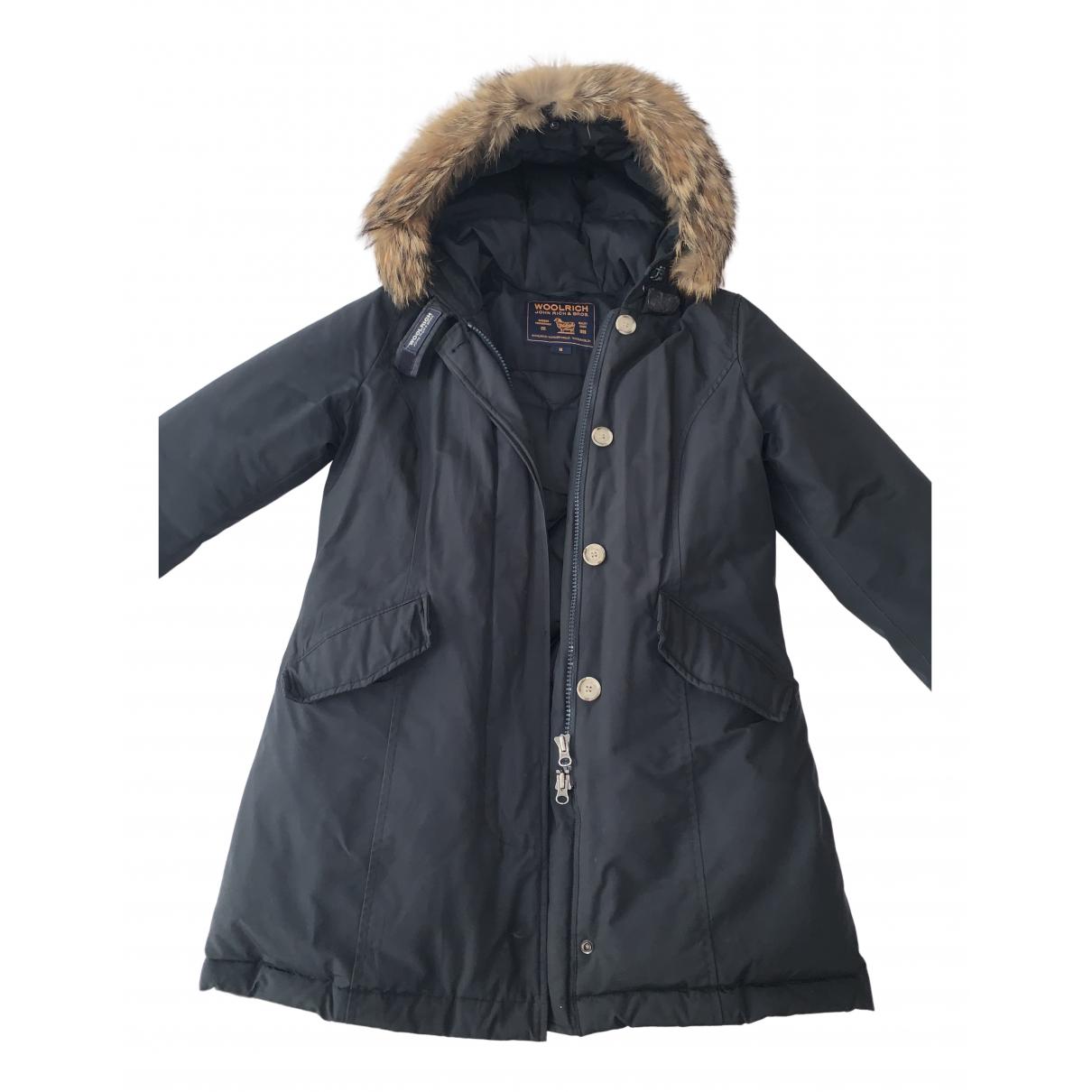 Woolrich N Blue Cotton coat for Women M International