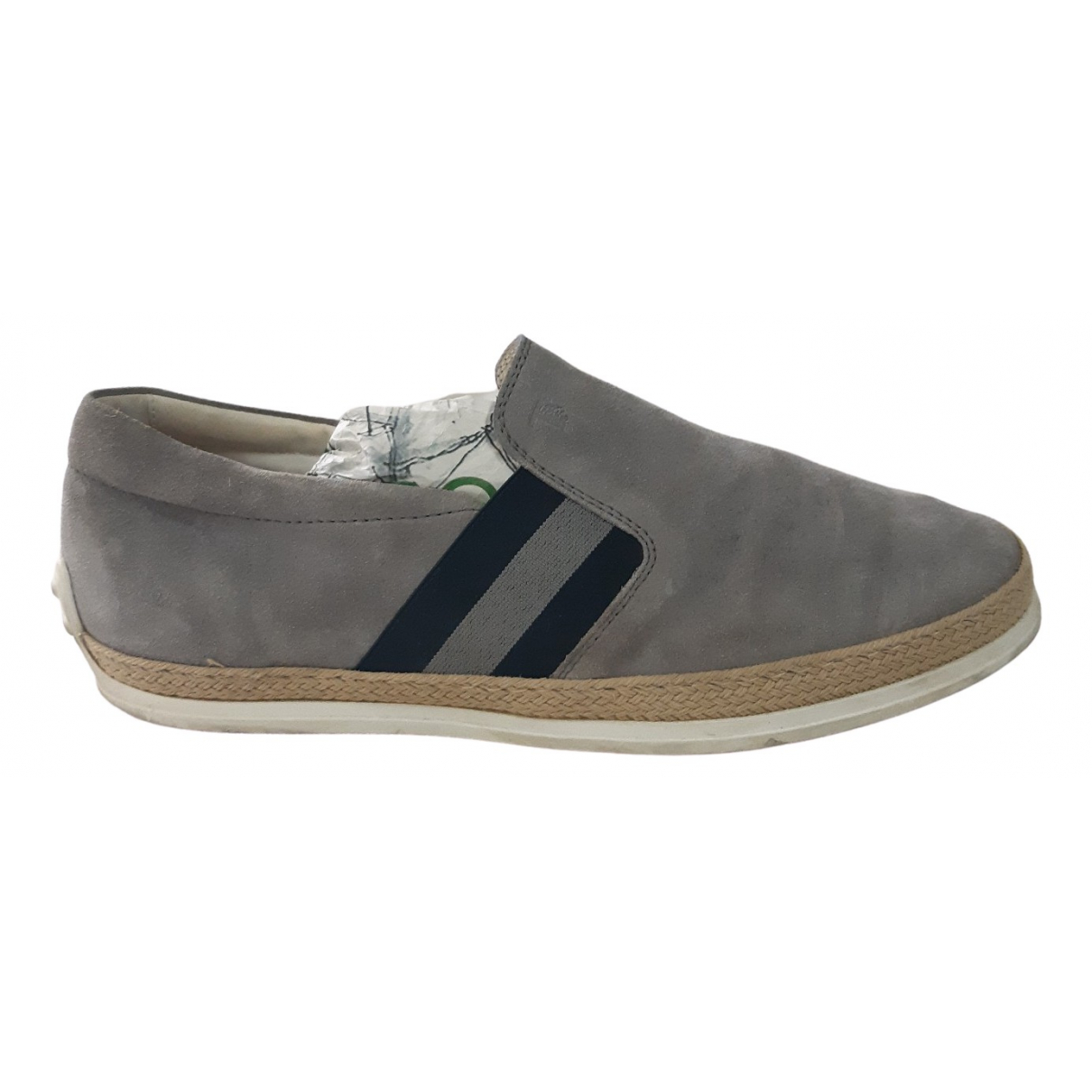 Tod's \N Grey Suede Flats for Men 7.5 UK