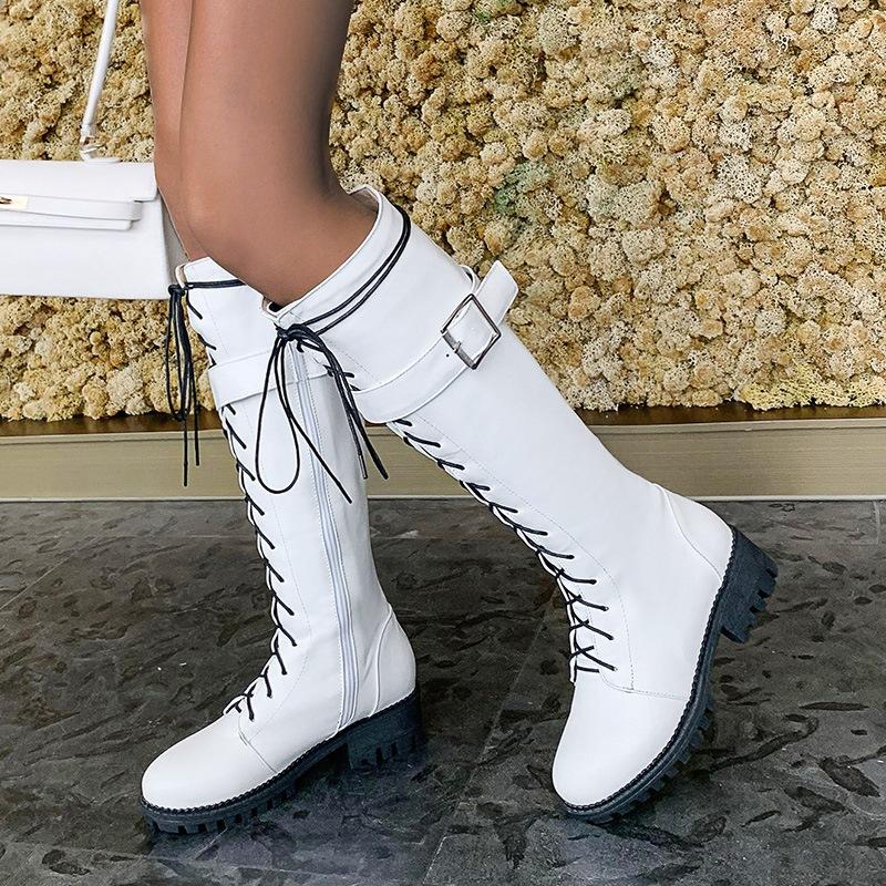 Ericdress Plain Side Zipper Block Heel Western Boots