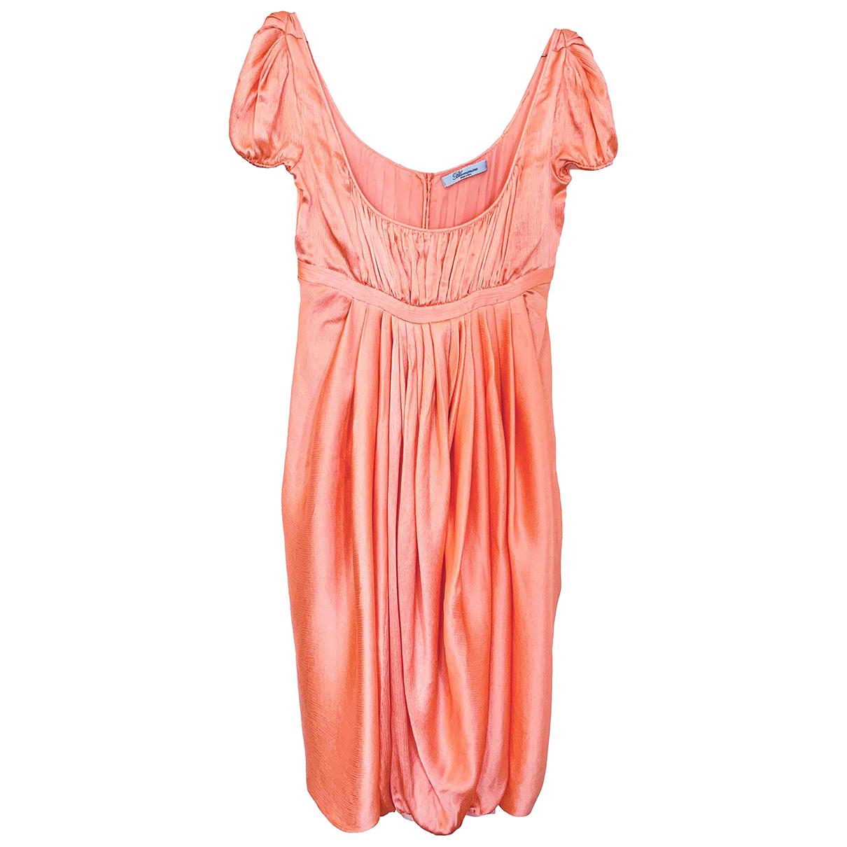 Blumarine \N Kleid in  Orange Seide
