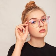 Clear Frame Glasses With Case