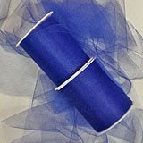 Royal Blue Tulle - 6 X 25yd - Fabric Cloth - Width: 6 by Paper Mart