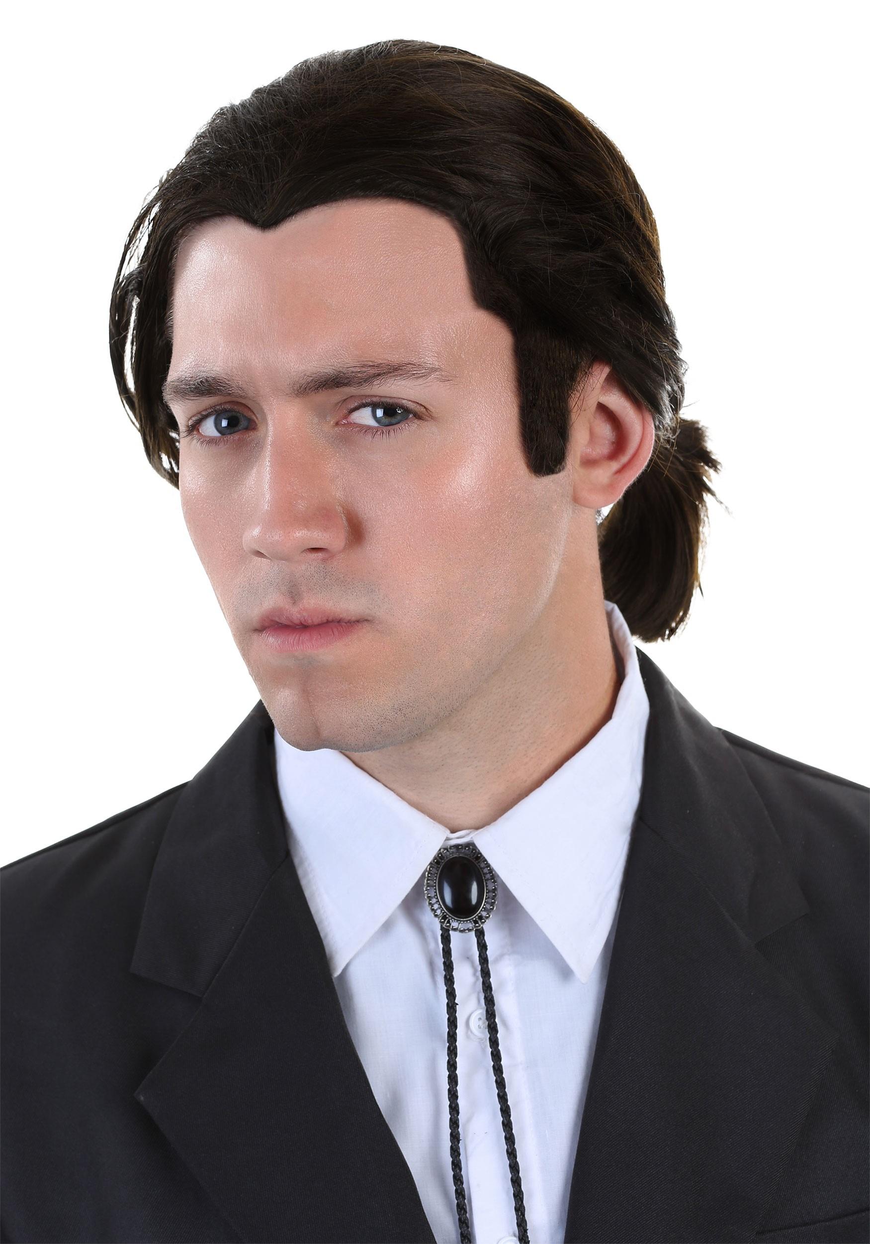 Pulp Fiction Vincent Vega Wig and Bolo Tie Set