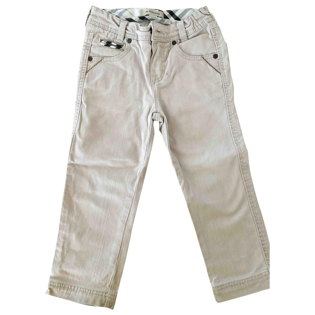 Burberry - Pantalon   pour enfant en denim - beige