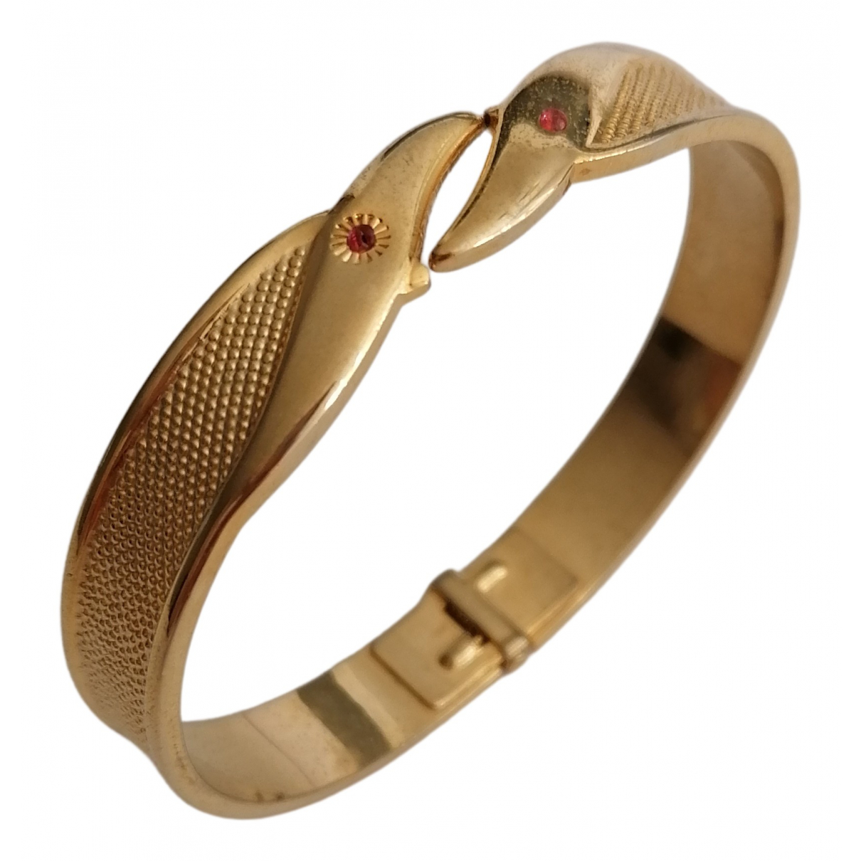 Non Signe / Unsigned Jonc Armband in  Gold Metall