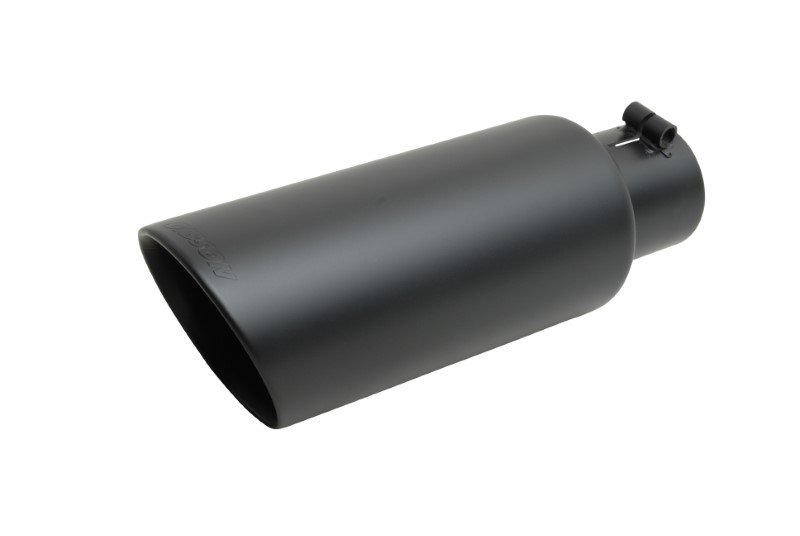 Gibson Performance 500427-B Black Ceramic Double Walled Angle Exhaust Tip
