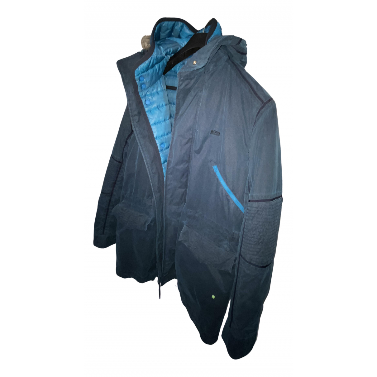 Hugo Boss \N Maentel in  Blau Polyester