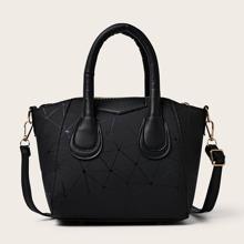 Tasche mit geometrischer Grafik