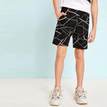 Boys Geo Print Shorts