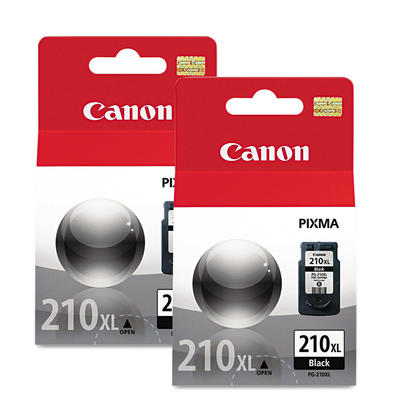 Canon PG210XL Original Black Ink Cartridge High Yield Twin Pack