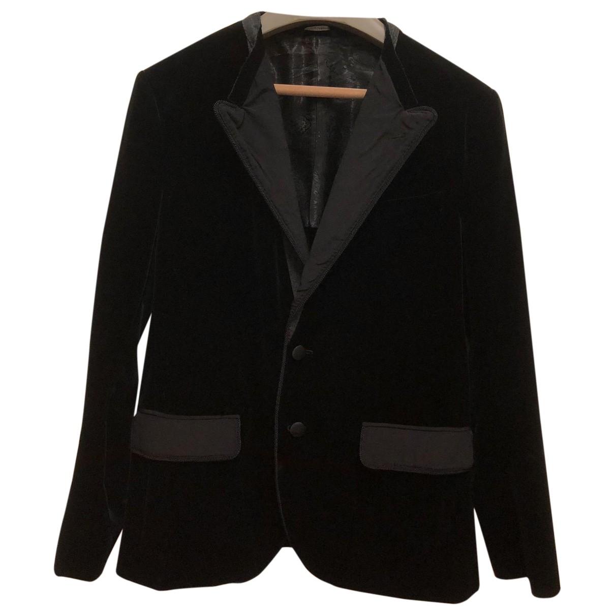 Dolce & Gabbana \N Black Velvet jacket  for Men 48 IT
