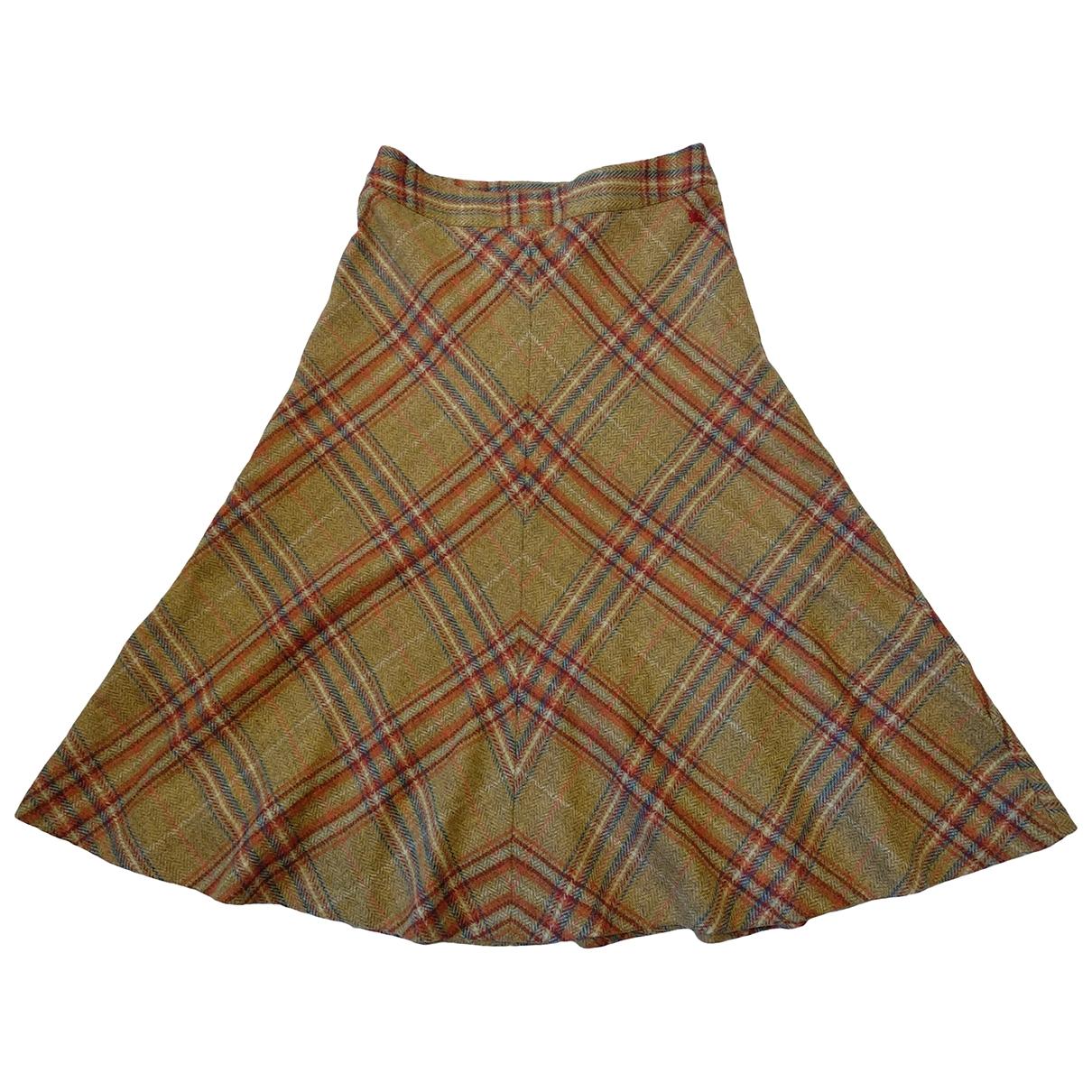 Burberry - Jupe   pour femme en laine - multicolore