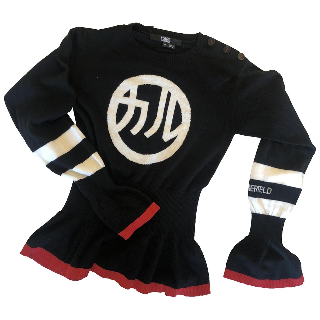 Karl Lagerfeld \N Black Cotton Knitwear for Women XS International