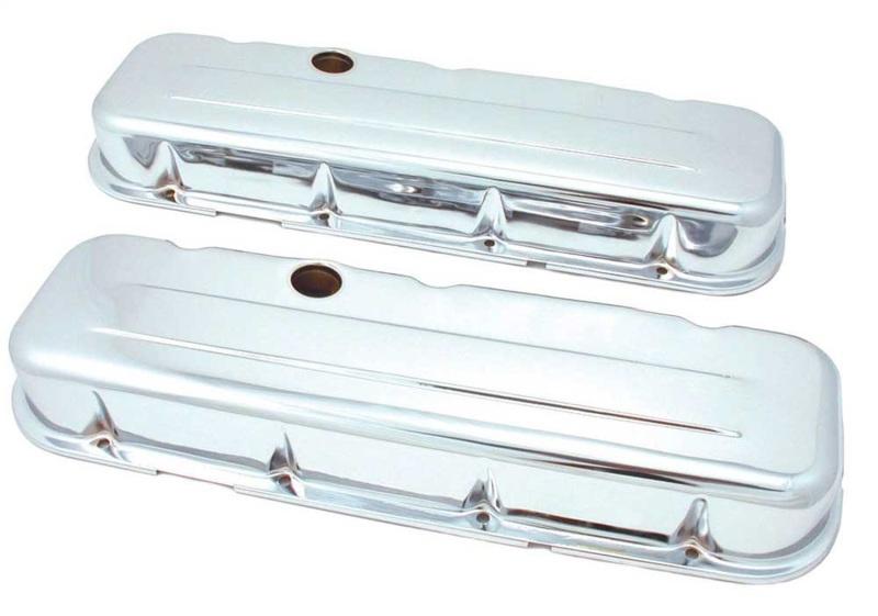 Spectre 5240 BB Chevy Short Valve Cover Set - Chrome