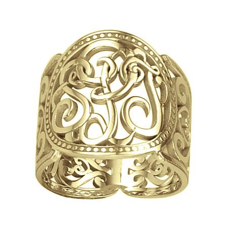 Personalized 18mm Script Monogram Ring, 7 1/2 , Yellow