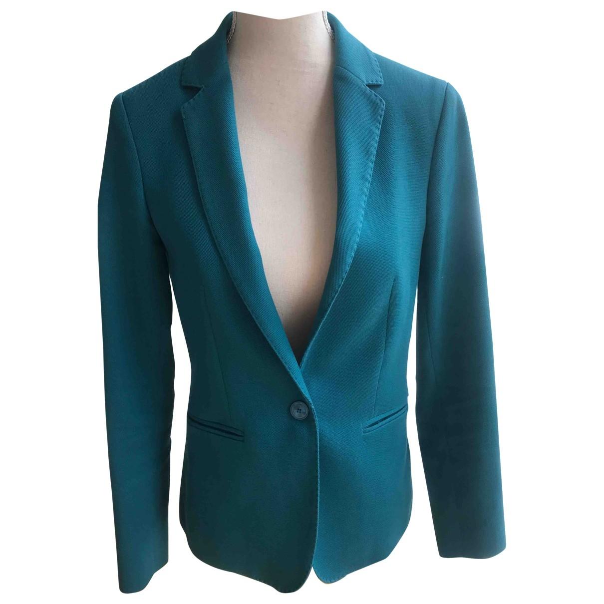 Massimo Dutti - Veste   pour femme - turquoise