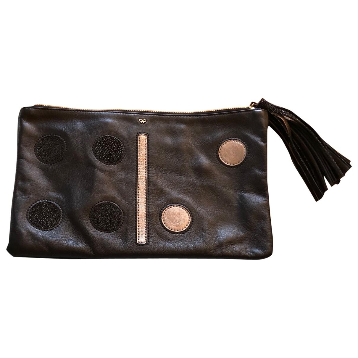 Anya Hindmarch - Pochette   pour femme en cuir - noir
