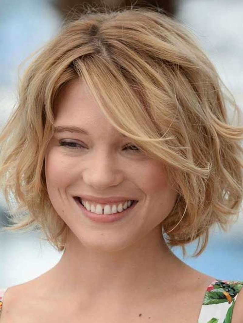 Ericdress Short Bob Hairstyle Wavy Human Hair Lace Front Wigs 10 Inches