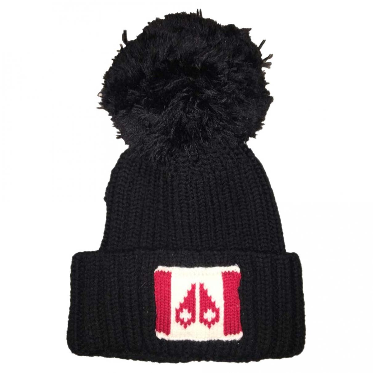 Moose Knuckles - Chapeau & Bonnets   pour homme en laine - noir