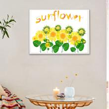 Sunflower Print Wall Painting Without Frame