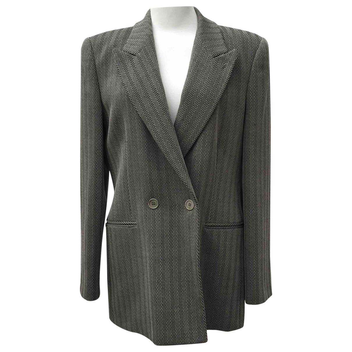 Emporio Armani - Veste   pour femme en laine - beige