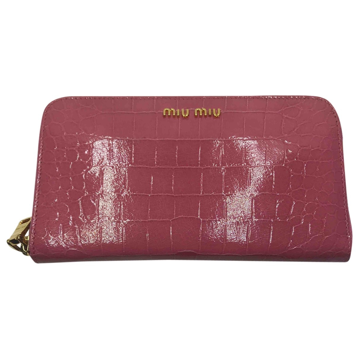 Miu Miu Bow bag Pink Exotic leathers wallet for Women \N