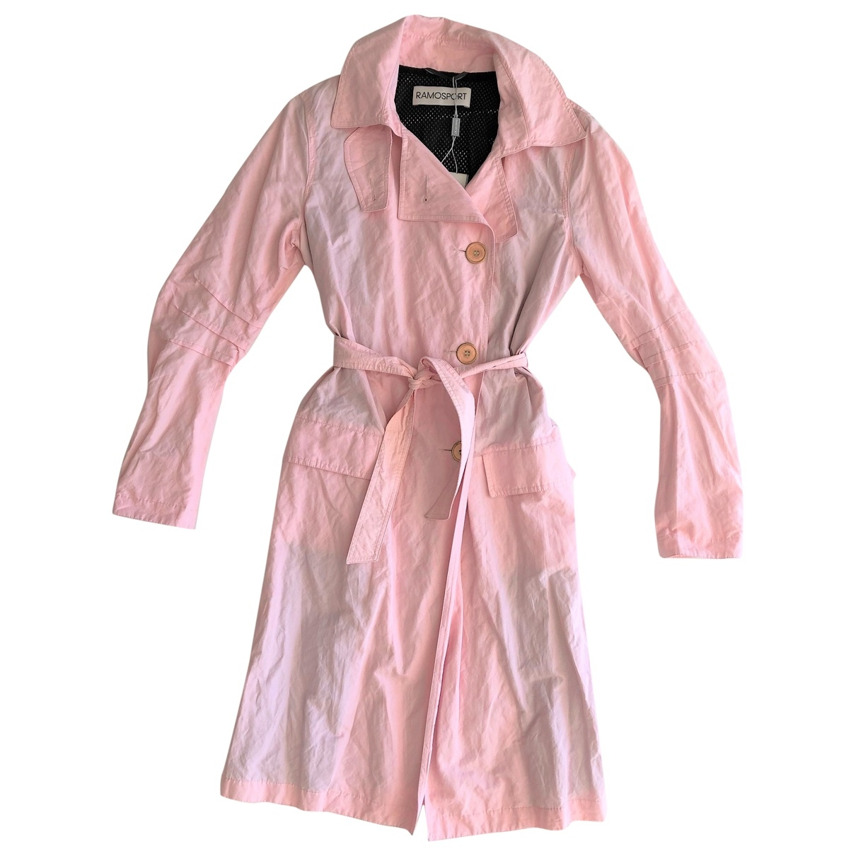 Ramosport \N Pink Cotton Trench coat for Women 40 IT