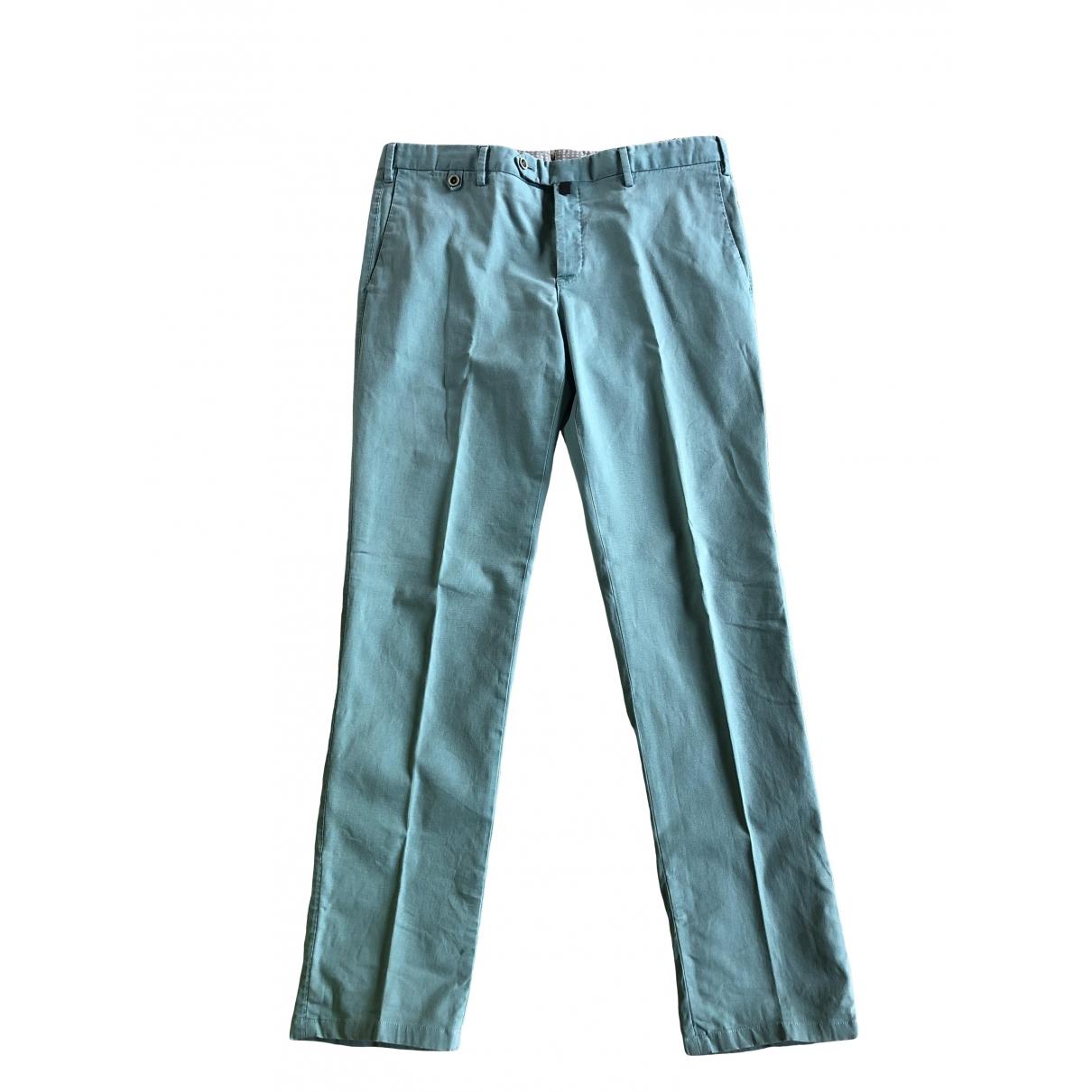Pantalones en Algodon Verde Pt01