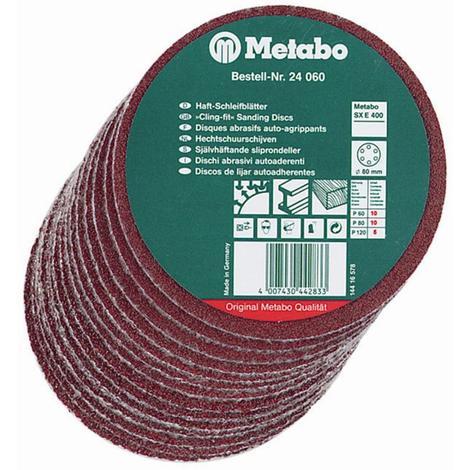 Metabo 3-5/32 In. Hook and Loop Sanding Sheet P120